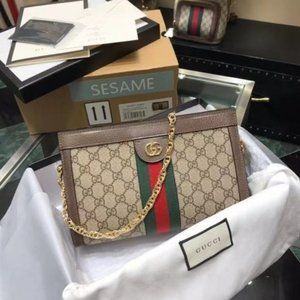Gucci  Ophidia GG Small Shoulder Bag Brown